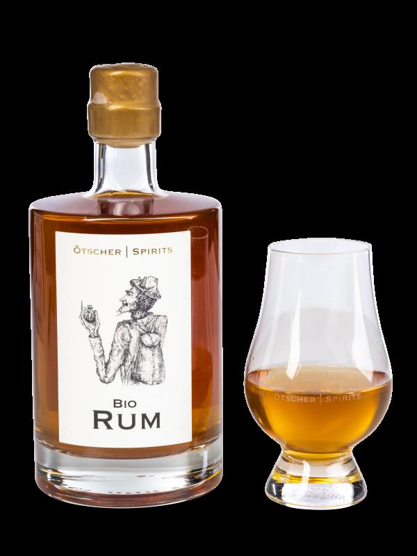 bio rum im ötscher spirits glas
