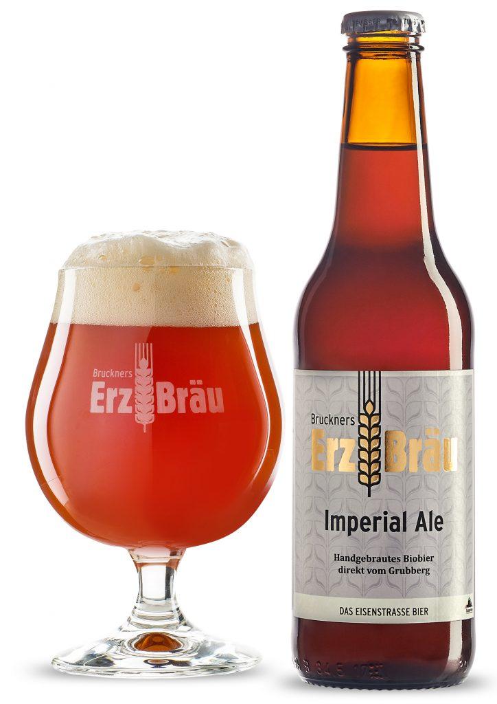 Bruckners Erzbräu Bio Imperial Ale mit Glas
