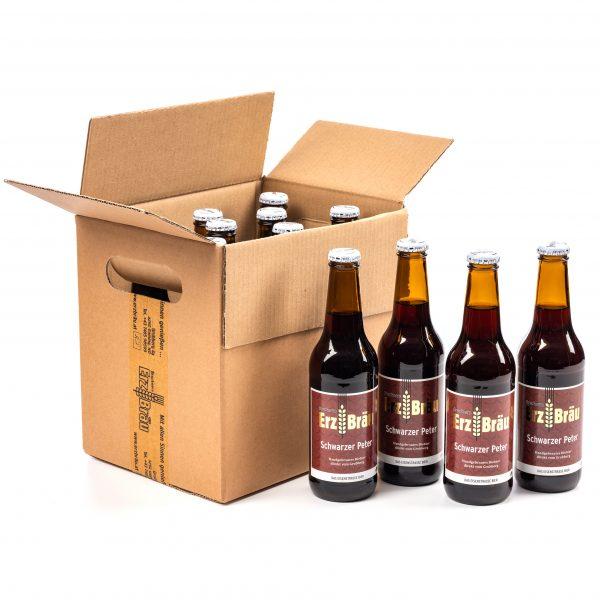 Bio Erzbräu Schwarzer Peter Paket 12x0,33l Bierflasche Fotocredit: Theo Kust