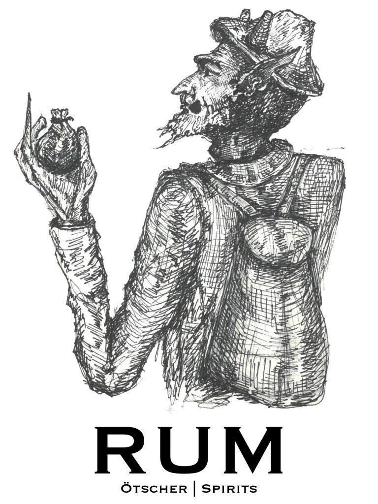 ötscher spirits rum label entwurf der teufel und die sennerin
