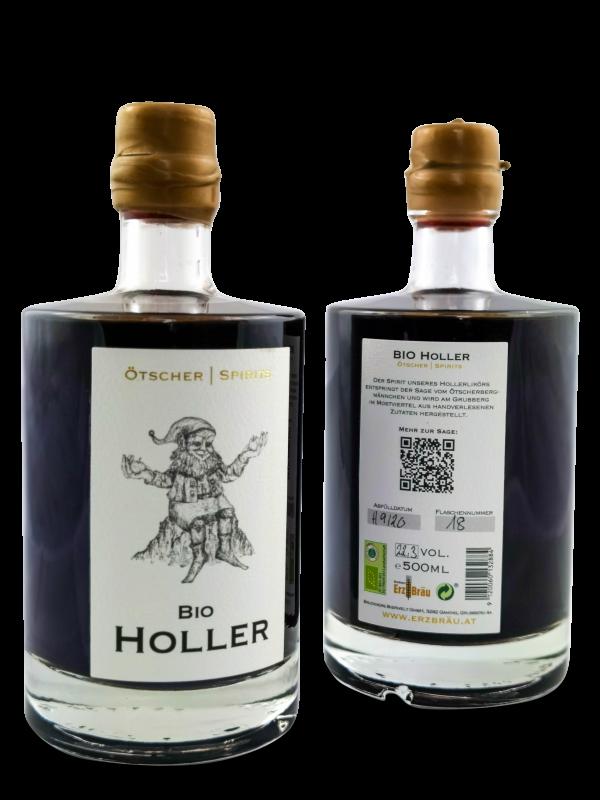 bio Holler 0,5l ötscher spirits flasche 0,5l
