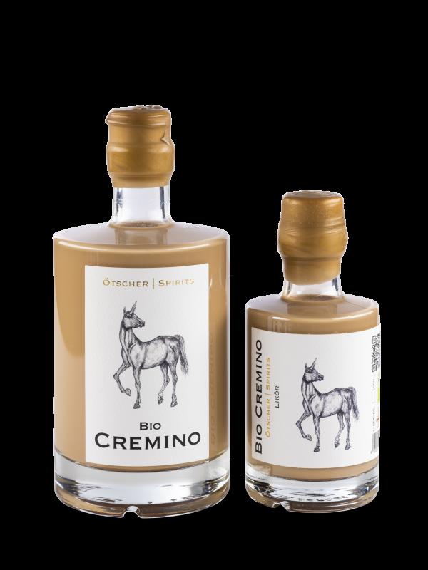 cremino 0,5 und 0,2 l ötscher spirit flasche