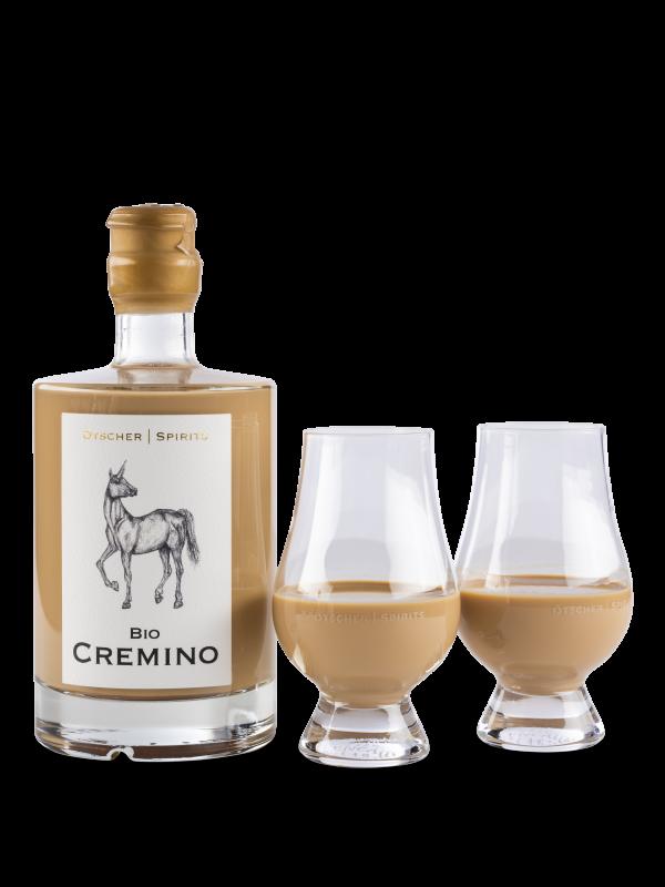 cremino mit ötscher spirits glas produktfoto