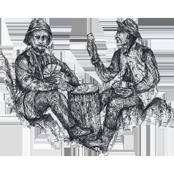 Die Spieler von Wegscheid Illustration Klara Naynar Ötscher Spirits